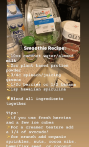 Health Coach Jocelyn Martinez's favorite smoothie recipe